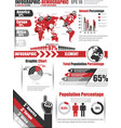 INFOGRAPHICS DEMOGRAPHIC ELEMENT 11 RED vector image vector image