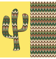 background with cactus vector image