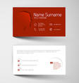 Modern red business card template with flat user vector image vector image