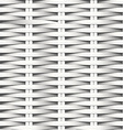 Cane flat woven white fiber seamless pattern vector image