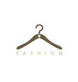 fashion hang cloth shop logo vector image