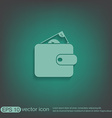 purse sign symbol icon purse and dollar money in vector image