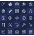 Hand-made icons set vector image
