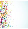 colorful tunes vector image vector image