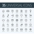 Set of universal thin line icons for print or web vector image