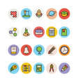 Education Colored Icons 15 vector image