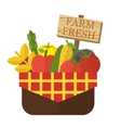 Organic food basket vector image