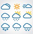 Weather conditon icons vector image