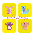 Cute set of toys vector image vector image