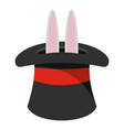 hat with a rabbit ear icon cartoon style vector image
