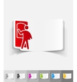 realistic design element delivery man vector image