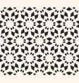 seamless texture floral tile pattern monochrome vector image
