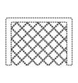 soccer goal grid equipment icon vector image