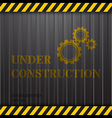 Under Construction on Container Background vector image