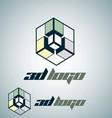 3d logo 4 vector image