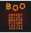 Halloween Style Typeface Uppercase Letters And vector image