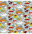 Comic Seamless Pattern vector image vector image