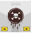 Symbol of spam and virus vector image