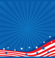 Background in colors of the American flag vector image