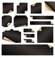 gold paper curls vector image