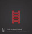 ladder outline symbol red on dark background logo vector image