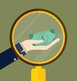 Money on hand Modern Flat design concept vector image