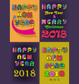 new years retro cards vector image