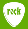 rock stone icon green vector image