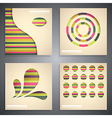 Various infographic backgrounds vector image