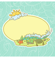 background with summer beach vector image