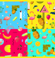 decorative colorful seamless patterns set vector image