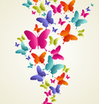 Butterfly colorful splash vector image