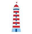 lighthouse on white background vector image