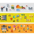 Flat and web design banners vector image