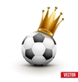 Soccer ball with royal crown of princess vector image