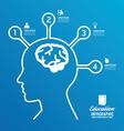 brain design diagram line infographics vector image vector image