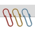 Set of colored paper clips vector image