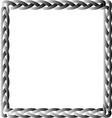 Black box braid vector image vector image
