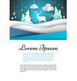 a4 template winter landscape fir vector image