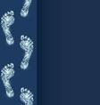 footprint as a chip vector image