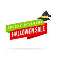 halloween theme price label style vector image