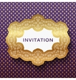 Invitation card Vintage background with place for vector image