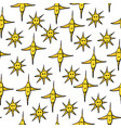 seamless pattern with various yellow stars vector image