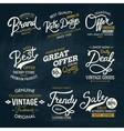 Various Fashion Labels on Dark Green Background vector image