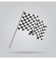 Waving Checkered racing flag vector image