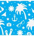 Beach seamless texture summer background season vector image
