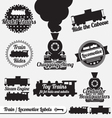 Trains Labels vector image vector image
