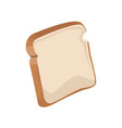 bread bakery icon sliced fresh wheat nutrition vector image