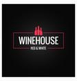 wine bottles logo design background vector image vector image