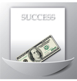 A Success background with a 100 Dollar Bil vector image vector image